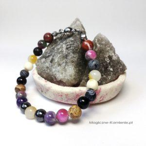 Bransoletka z kamieniami naturalnymi i zapięciem magnetycznym na prezent
